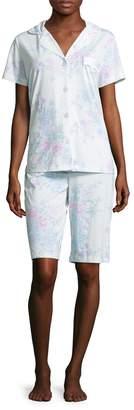 Midnight by Carole Hochman Women's Bermuda Cotton Pajama Set