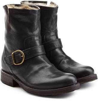 Fiorentini+Baker Leather Ankle Boots with Fur Insole