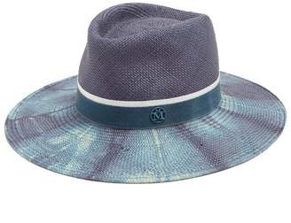 Maison Michel Charles Bleached Straw Hat - Womens - Blue