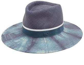 20a764b6915 COM · Maison Michel Charles Bleached Straw Hat - Womens - Blue