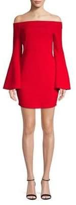 BCBGeneration Off-The-Shoulder Bell Sleeve Dress