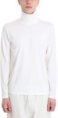 Jil Sander White Wool Sweater