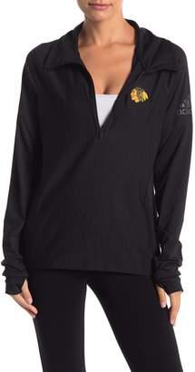 adidas Partial Zip Long Sleeve Sweater