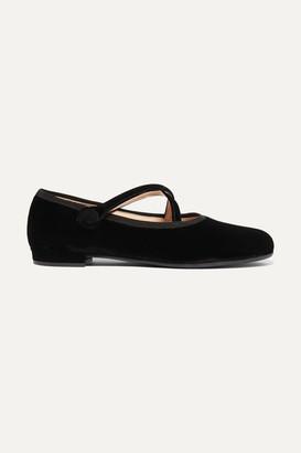 Miu Miu Velvet Ballet Flats - Black
