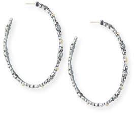 Konstantino SS & 18k Gold Large Hoop Earrings