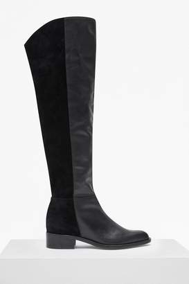 French Connection Tilly Knee High Flat Heel Leather Boots