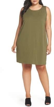 Eileen Fisher Bateau Neck Shift Dress