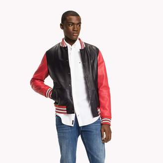 Tommy Hilfiger Leather Baseball Jacket