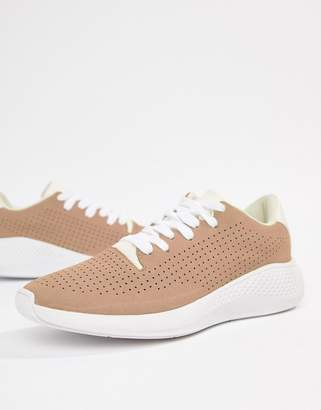 Asos Design DESIGN sneakers in pink with white sole