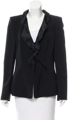 Armani Collezioni Ruffled Silk Blazer