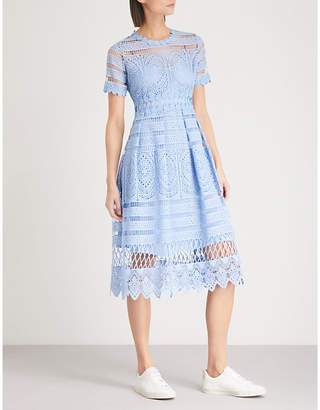 Maje Embroidered lace dress
