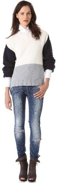 Balmain Pierre Leopard Skinny Jeans