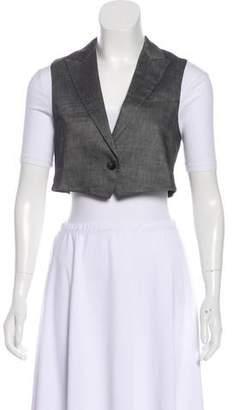 Theory Peak-Lapel Wool-Blend Vest