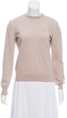 Versace Merino Wool Logo-Embroidered Sweater