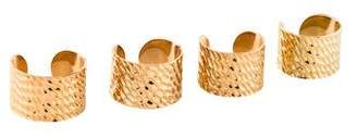 Maison Margiela Knuckle Duster Textured Four Ring Set