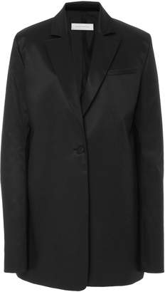 Marina Moscone Oversized Wool And Silk Satin-Blend Blazer