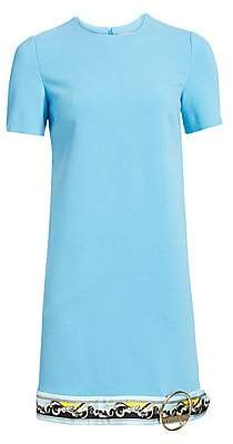 Emilio Pucci Women's Buckle Hem Border Print Shift Dress