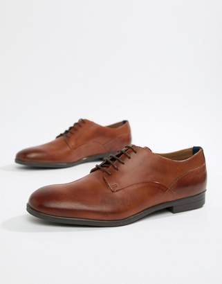 H By Hudson Axminster formal shoes in tan leather