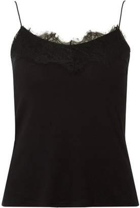 Dorothy Perkins Womens Black Lace Trim Cami Top