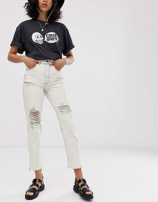 Cheap Monday organic cotton Donna rigid mom jeans with distressing