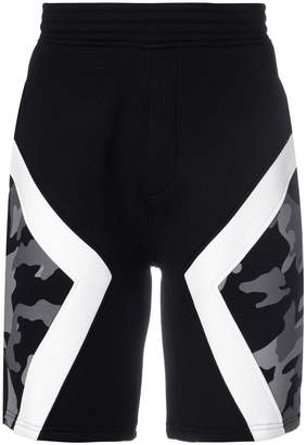 Neil Barrett camouflage panel shorts