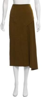 Tibi Asymmetrical Midi Skirt