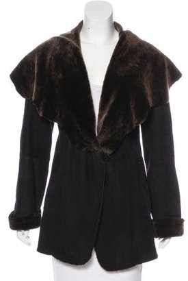 Blue Duck Shearling Short Coat