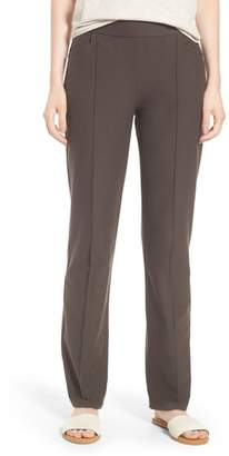 Eileen Fisher Slim Washable Stretch Crepe Bootcut Pants