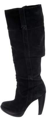 Michael Kors Suede Knee-High Boots Black Suede Knee-High Boots