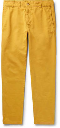 Acne Studios Cotton-twill Trousers - Mustard