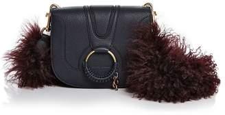 See by Chloe Hana Small Leather & Lamb Fur Crossbody