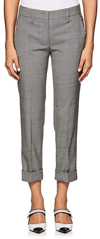 Prada Women's Stretch Wool-Silk Sharkskin Pants