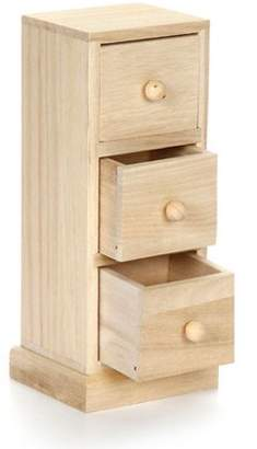 Darice Small Wood Cabinet Tower with Three Drawers: 3.54 x 3.15 x 8.2 inches