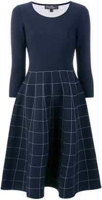 Salvatore Ferragamo grid print flared dress