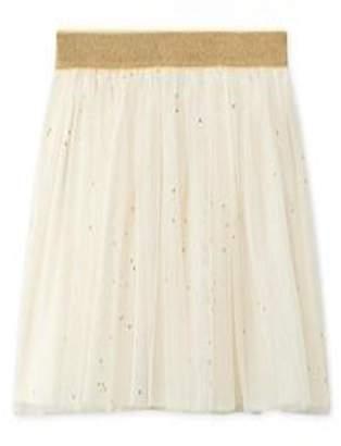 Petit Bateau White/gold Tulle Skirt