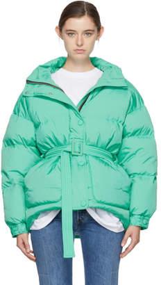 Ienki Ienki Green Down Michelin Belted Hooded Jacket