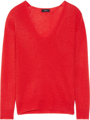 Theory - Adrianna Cashmere Sweater - Red $265 thestylecure.com