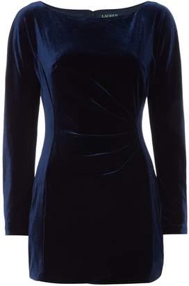 Lauren Ralph Lauren Long sleeved stretch velvet shift dress