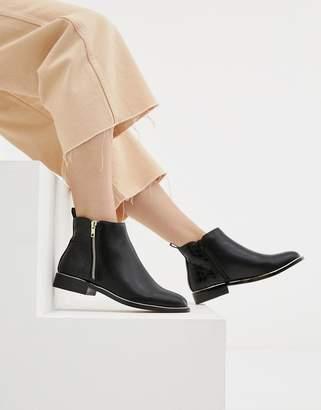 Office Flat Side Zip Boots