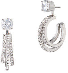 Carolee Holiday Fling Crystal Two-In-One Hoop Ear Jacket