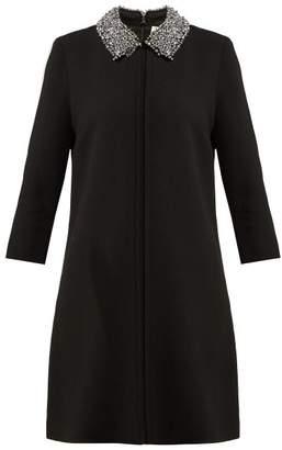 Goat - Gleam Bead Embellished Wool Dress - Womens - Black