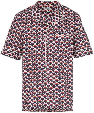 Valentino short sleeved scale print shirt