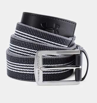 Under Armour Mens UA Striped Performance Stretch Belt