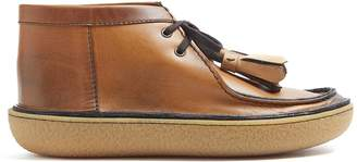 Prada Tassel leather desert boots