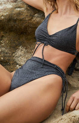 KENDALL + KYLIE Kendall & Kylie Cinched High Cut Bikini Bottom