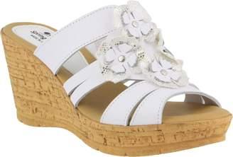 Spring Step Leather Slide Sandals - Rositsa
