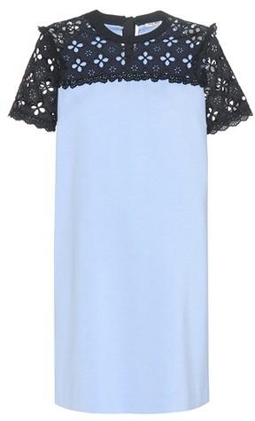 Miu MiuMiu Miu Jersey Dress With Lace