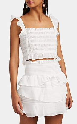 SIR The Label Women's Aurelie Cotton Crop Top - White