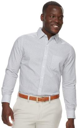 Haggar Men's Classic-Fit Tuckless Button-Down Shirt
