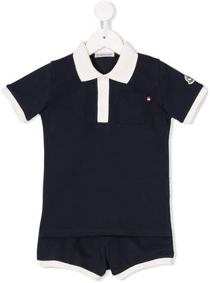 Moncler polo shirt and shorts set